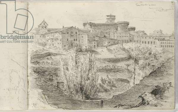 The Rocca Nuova (or Torre Maschio, Volterra) c.1831 (pencil on paper)