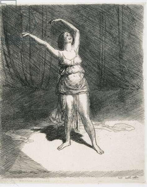 Isadora Duncan, 1915 (etching)
