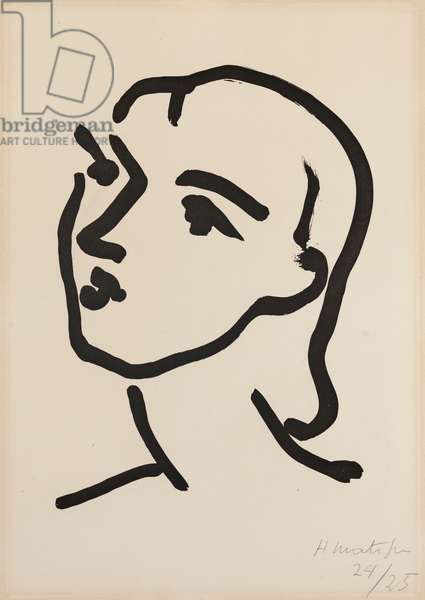 Nadia au cheveux lisse, 1948 (aquatint printed in black ink on wove paper)