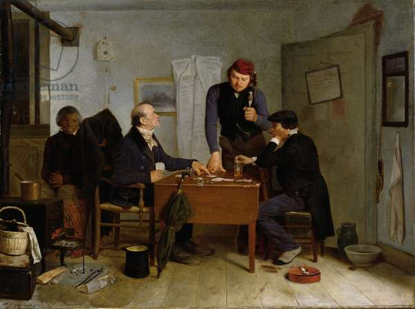 The Card Players, 1846 (oil on canvas)