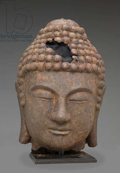 Head of Buddha, Korean, late 8th-early 9th century AD (cast iron)