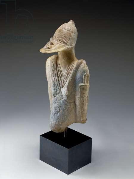 Bearded male figure, c.1300-1400 (terracotta)