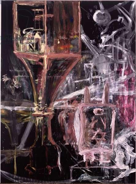 Kaballistic Painting, 1983 (oil on velvet)