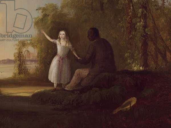 Detail of 'Uncle Tom and Little Eva', 1853 (oil on canvas)