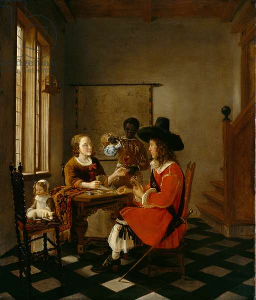 The Game of Cards, c.1660 (oil on canvas)