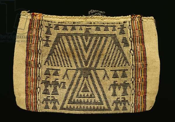 Storage bag, Potawatomi, c.1890 (cotton twine & wool yarn) (see also 340992)