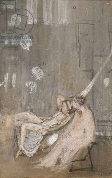 In the Studio, c.1867-68 (w/c, gouache & black chalk on paper)