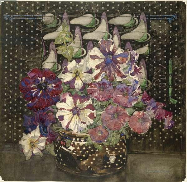 Petunias, 1916 (w/c & gouache on paper)