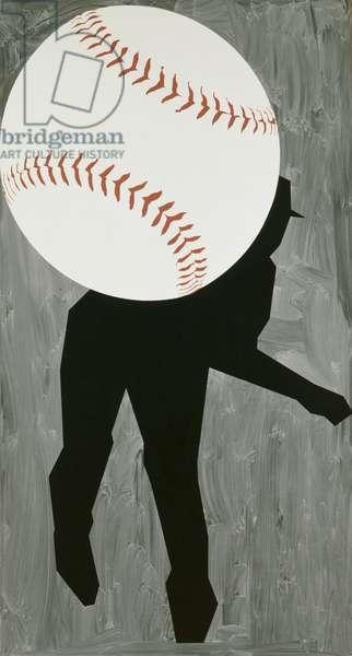Hard Ball III, 1993 (oil on canvas)