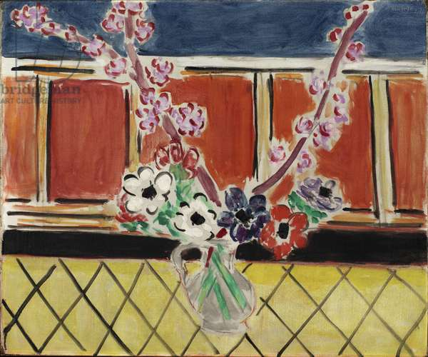 Anemones and Peach Blossoms, 1944 (oil on canvas)
