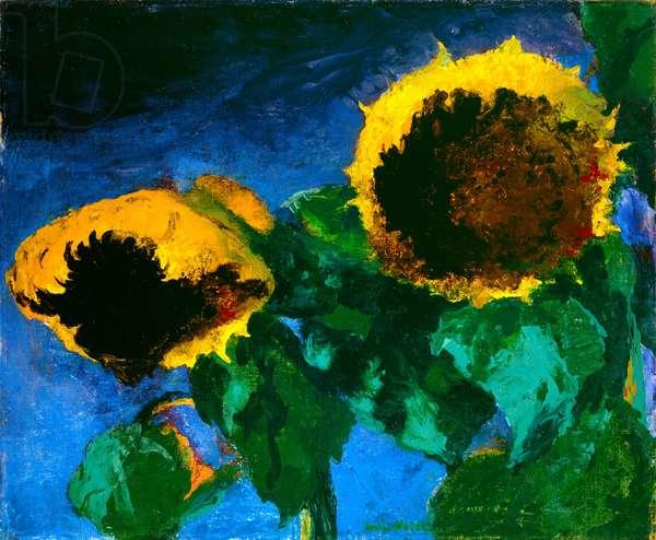 Sunflowers, 1932 (oil on canvas)