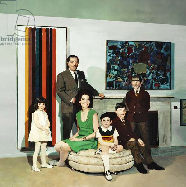 Family Portrait, 1968 (acrylic & oil on canvas)