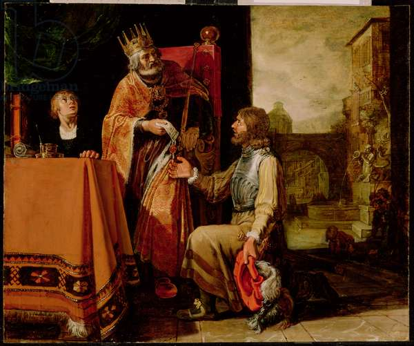 King David Handing the Letter to Uriah, 1611 (paint on panel)