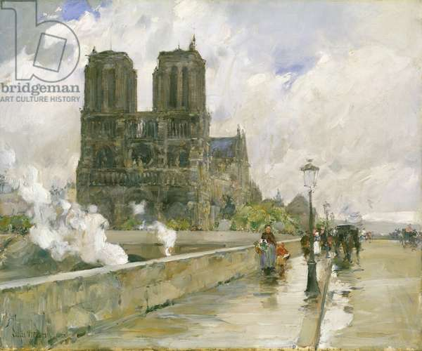 Notre Dame Cathedral, Paris, 1888 (oil on canvas)