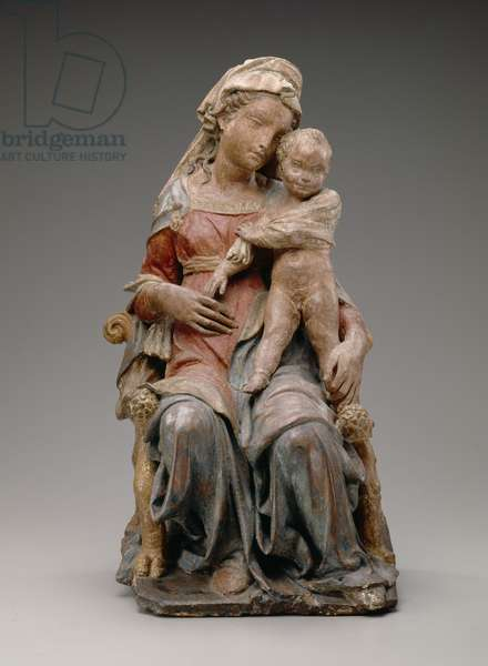 Madonna and Child, 1410-20 (gilt terracotta with polychrome decoration)