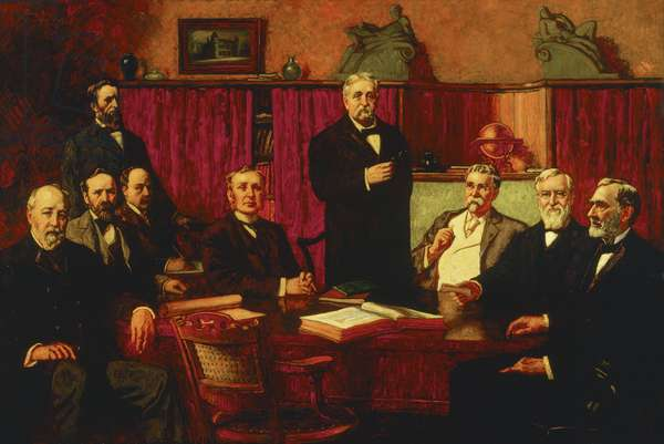First Board of Trustees of the Detroit Museum of Art, 1907 (oil on canvas)