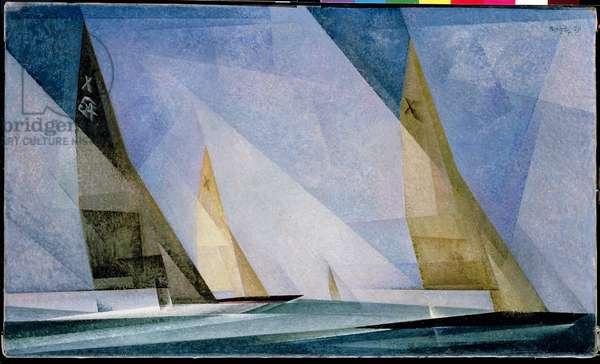 Sailboats, 1929 (oil on canvas)