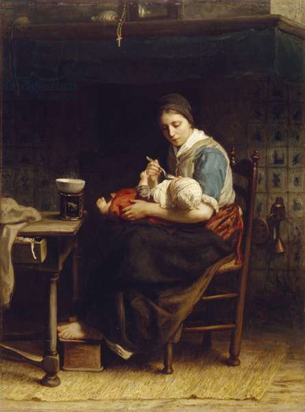 The Cottage Madonna, c.1867 (oil on canvas)