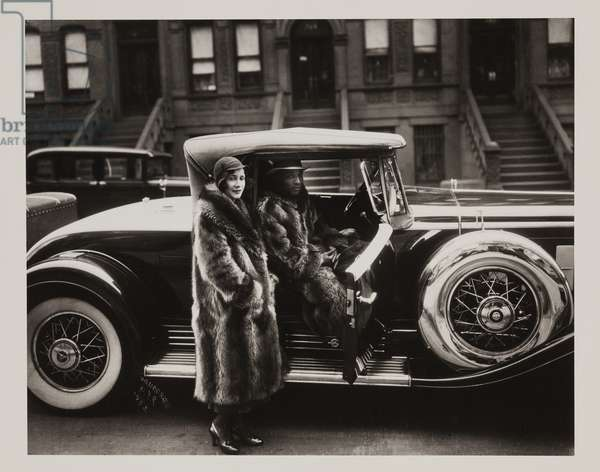 Couple in Raccoon Coats, 1932 (printed after 1980) (gelatin silver print)