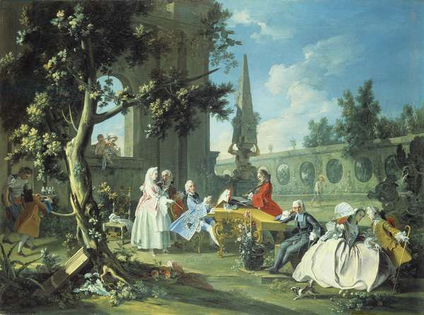 Concert in a Garden, c.1750 (oil on canvas)