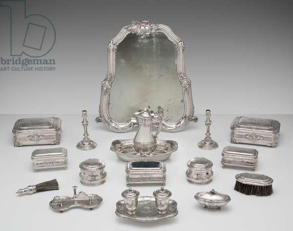 Toilet service, 1738-39 (silver)