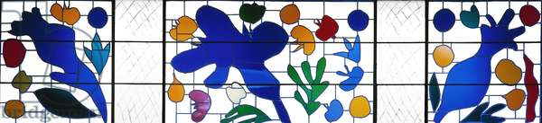 The Wild Poppies, 1969 (stained & leaded glass)