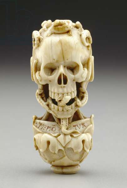 Pendant to a Rosary of Chaplet, c.1500-25 (elephant ivory with traces of polychromy)