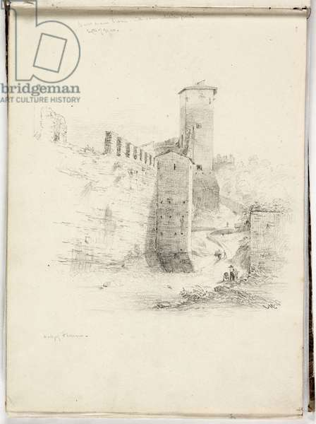 Wall of Florence, 1831 (pencil on paper)