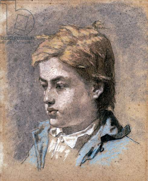 Portrait of a Young Man, c.1856 (pastel on paper)