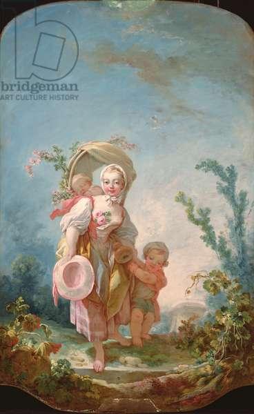 The Shepherdess, 1748-52 (oil on canvas)