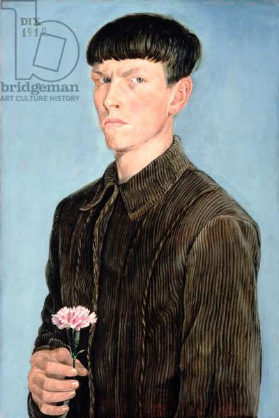 Self Portrait, 1912 (oil on tempera on panel)