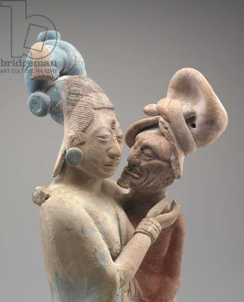 Embracing Couple (terracotta with pigments) (see also 323290)