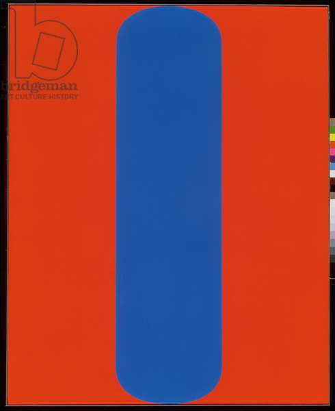 Blue Red, 1964 (oil on canvas)
