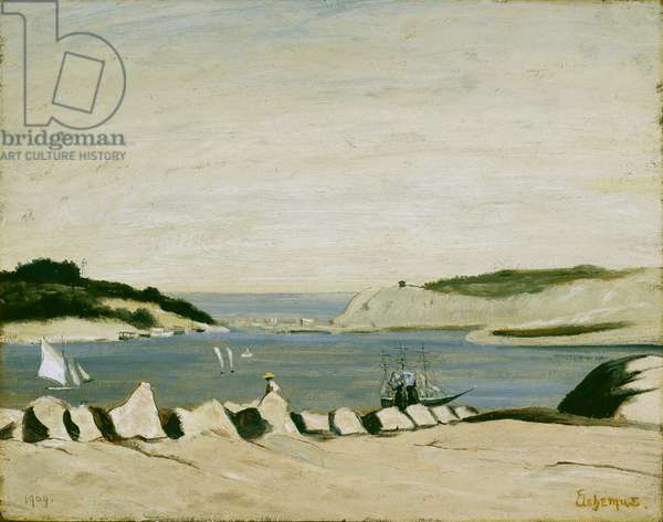 Coast Scene, 1909 (oil on paper, mounted on canvas)