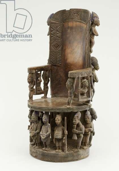 Chief's Throne, Yoruba Culture (wood & pigment)