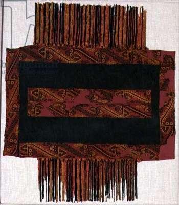 Miniature poncho, Paracas, Pre Columbian, 100 BC-100 AD (textile)