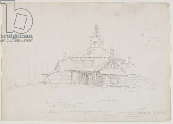 Hornby Lodge, 1839 (pencil on paper)