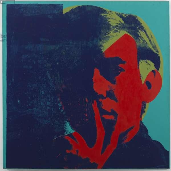Self Portrait, 1967 (acrylic & silkscreen enamel on canvas)