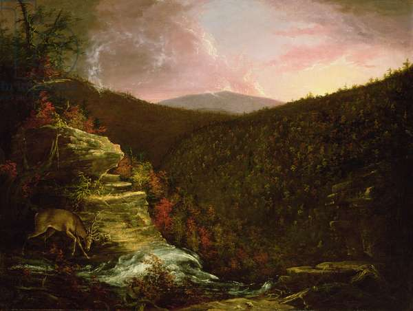 From the Top of Kaaterskill Falls, 1826 (oil on canvas)