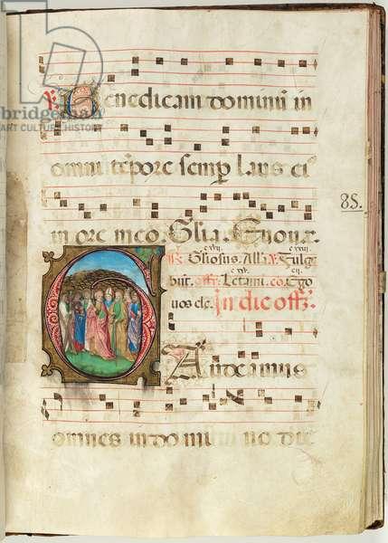 All Saints, Gradual f.85 (ink, tempera & gold leaf on parchment)