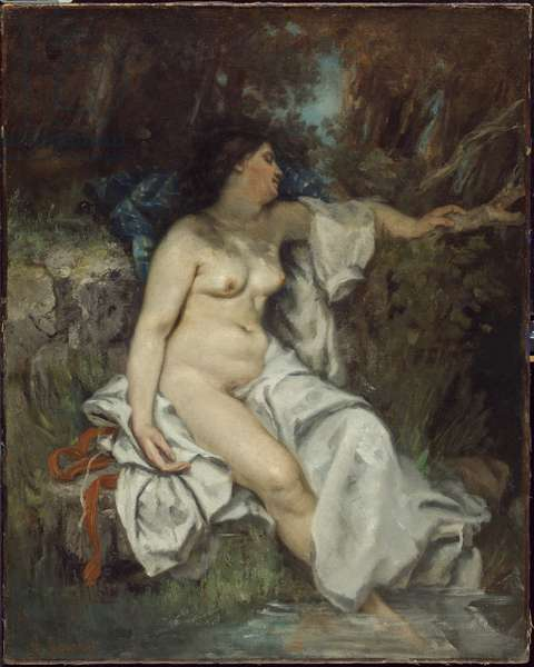 Bather Sleeping by a Brook, 1845 (oil on canvas)