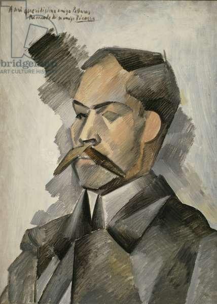Portrait of Manuel Pallares, 1909 (oil on canvas)