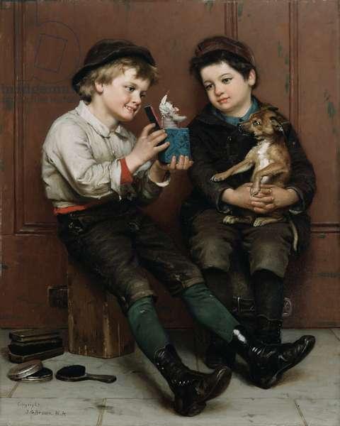 A Surprise Party, 1888 (oil on canvas)