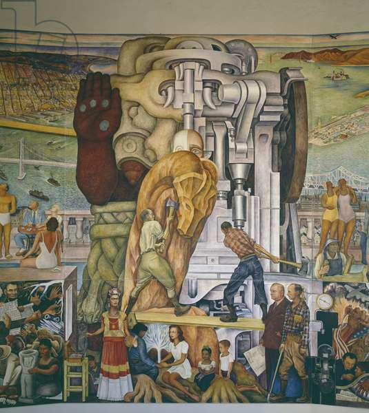Pan-American Unity: The Plastification of the Creative Power of the Northern Mechanism by Union with the Plastic Tradition of the South, 1940 (fresco)