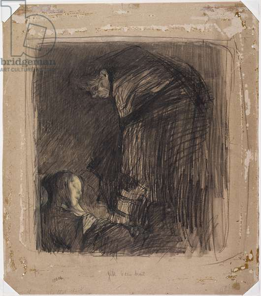 Burial, c.1903 (charcoal, pastel and chalk on board)