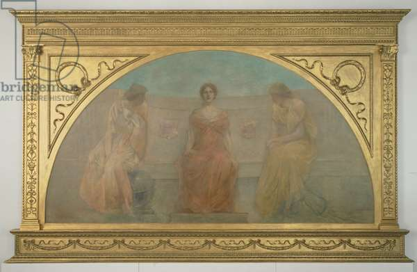 Commerce and Agriculture Bringing Wealth to Detroit, 1900 (oil on canvas)