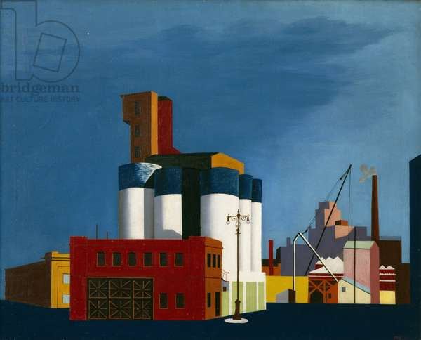 Waterfront, c.1940 (oil on canvas)