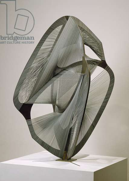 Linear Construction No. 4, 1962 (bronze & stainless steel)