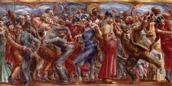 Savoy Ballroom, 1931 (tempera on masonite)