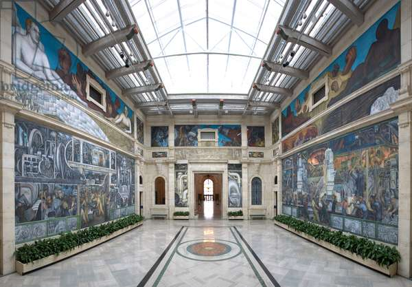 Detroit industry by Diego Rivera, West Wall 1932-33 (photo)
